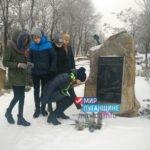 Жители Перевальска почтили память погибшего защитника Донбасса