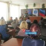 Руководитель Стахановского исполкома ОД «Мир Луганщине» встретился с работниками школы №18