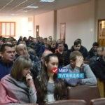 «Мир Луганщине» встретился с трудовым коллективом шахты имени Космонавтов