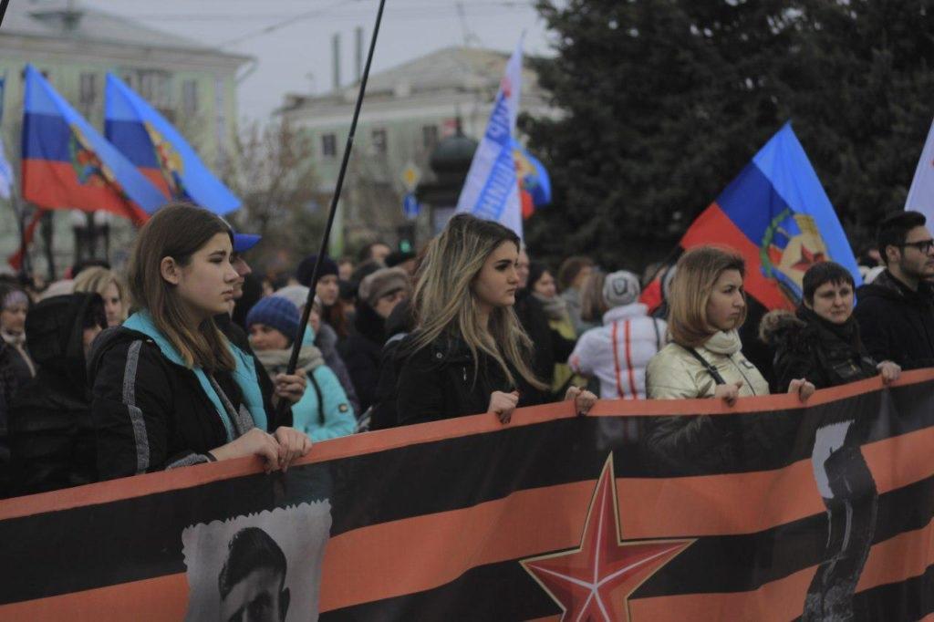 «Русской весне» 5 лет: луганчане собрались на митинг 4