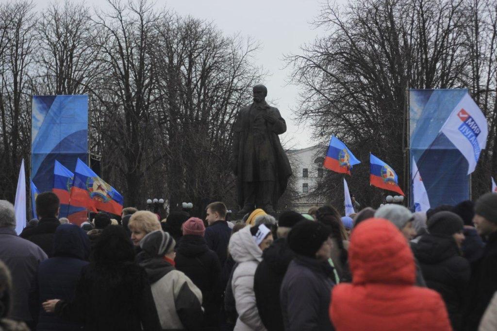 «Русской весне» 5 лет: луганчане собрались на митинг 5