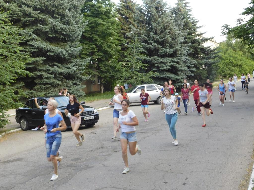 День физкультурника отпраздновали  в Славяносербске пробежкой 2