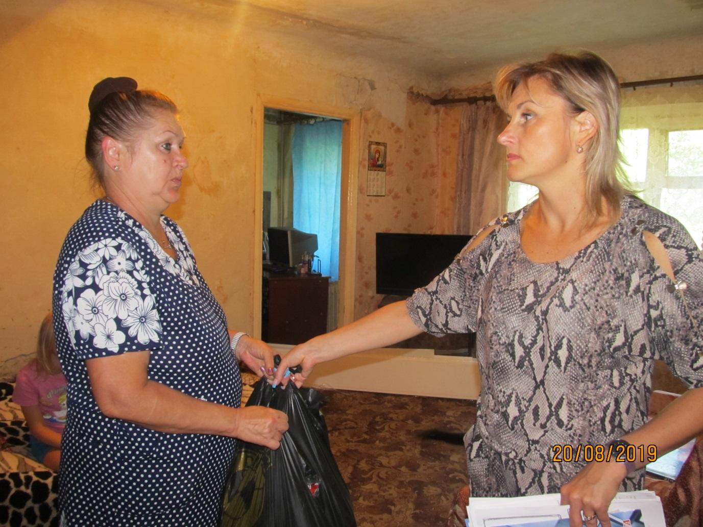 Проект «Волонтер» предоставил гуманитарную помощь семьям погибших шахтеров в результате аварии на шахте «Схидкарбон» 1
