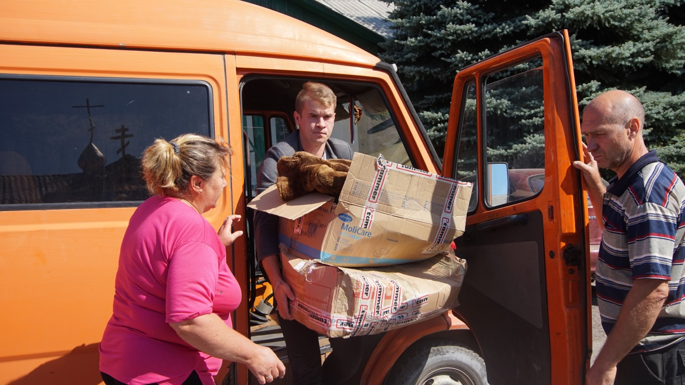 От проекта «Волонтер» передали гуманитарную помощь прифронтовым поселкам 1