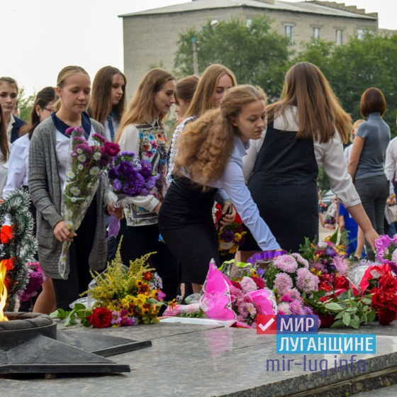 Более 500 жителей Первомайска приняли участие в митинге в день освобождения города от немецко-фашистских захватчиков 1