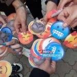 В Антраците активисты проекта «Молодая Гвардия» провели акцию «Смайлик»