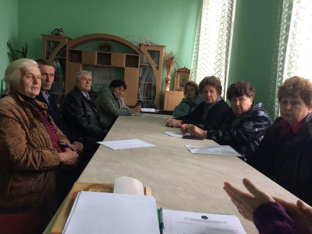 В Краснодоне состоялось заседание президиума Общественной организации ветеранов города и района 3