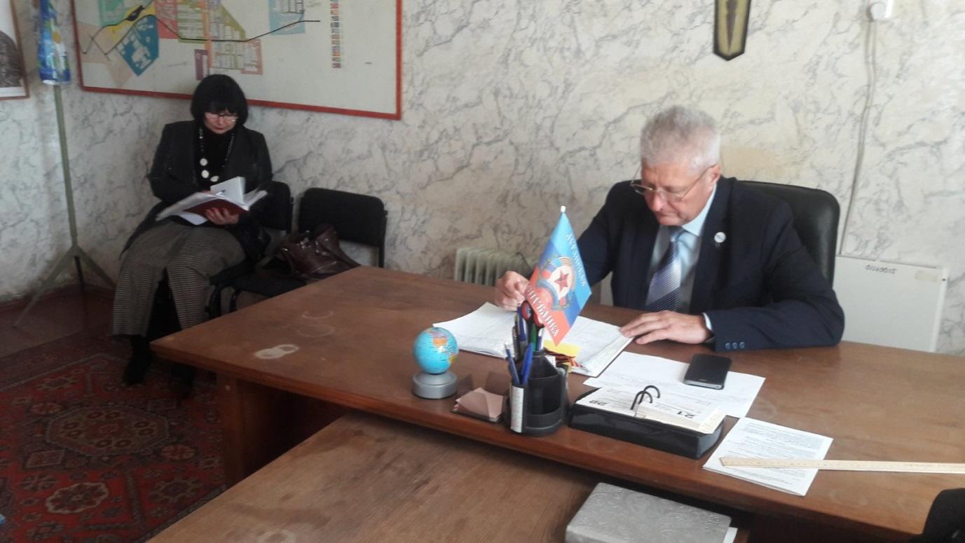 В поселке Урало-Кавказ Краснодонского городского совета состоялся прием граждан Сергеем Козенко 1