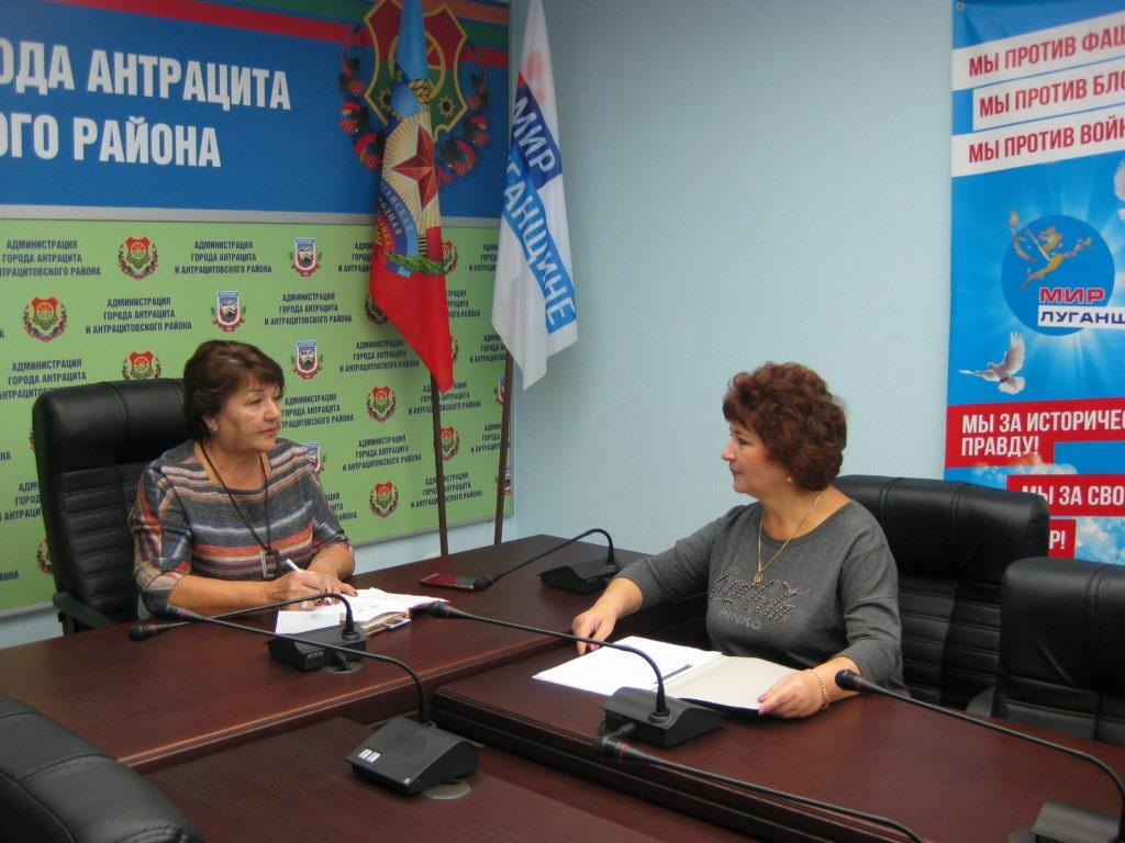 Елена Рахмукова провела прием с жителями Антрацита 2