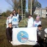 Славяносербские активисты ОД «Мир Луганщине» провели субботник в поселке Лозовский