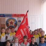 В селе Самсоновка Краснодонского района приняли атрибуты акции «Эстафета Победы» Знамя Победы