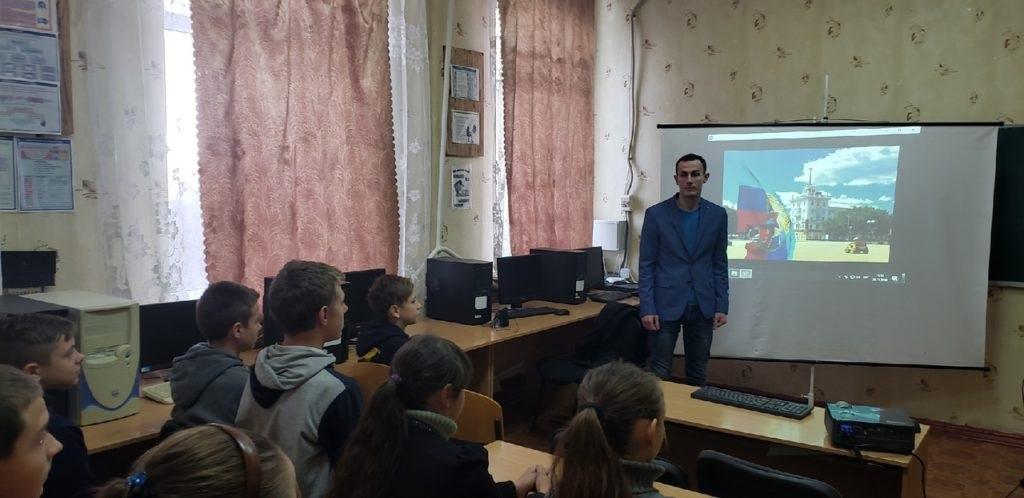 В посёлке Ящиково Перевалького района состоялось открытие первичного отделения проекта «Молодая гвардия» на базе учебного учреждения 3