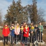 Ученики Самсоновской школы Краснодонского района провели субботник