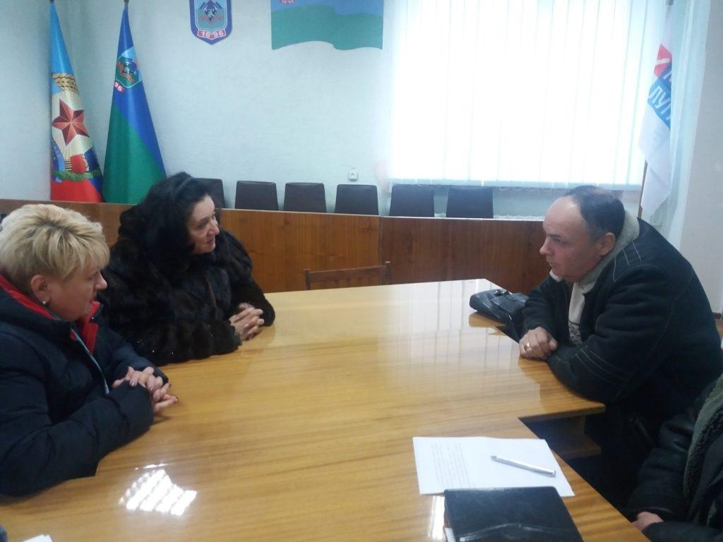 Заместитель начальника Государственной налоговой службы Государственного комитета налогов и сборов ЛНР провела прием в Брянке 2