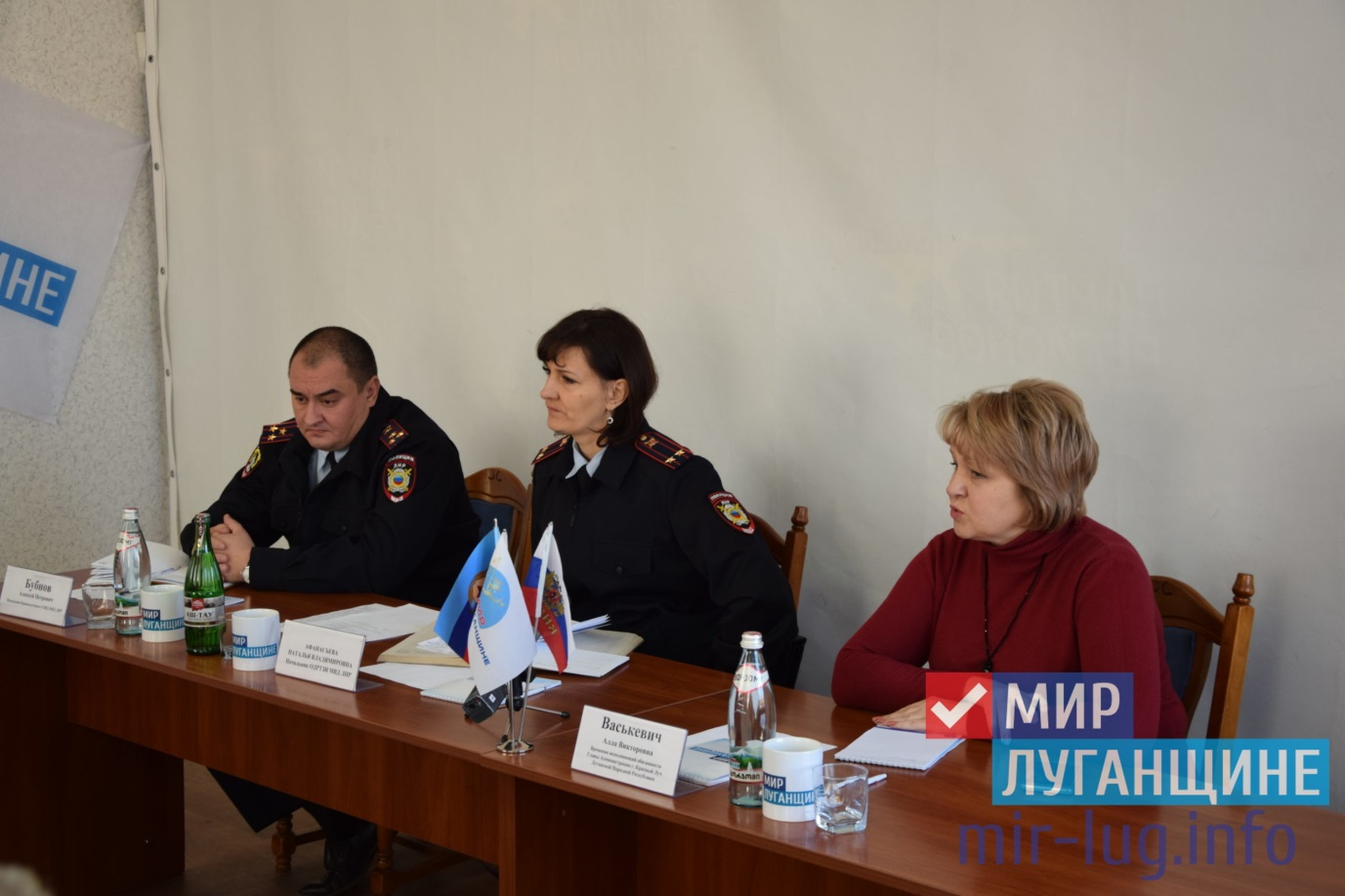 Представитель МВД ЛНР провела приём в Красном Луче 1