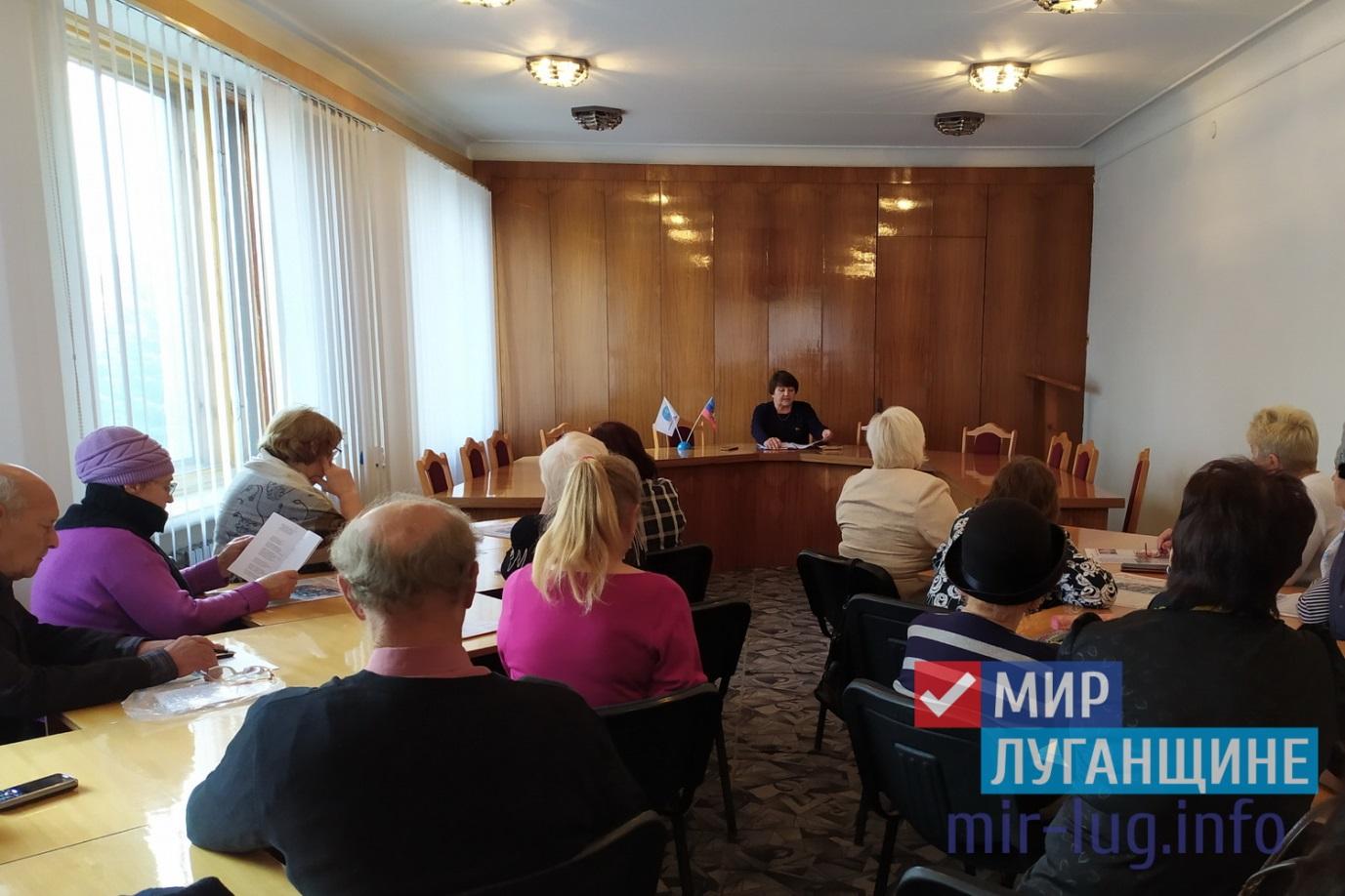 Депутат Народного совета ЛНР Елена Рахмукова встретилась с жителями Антрацита 2