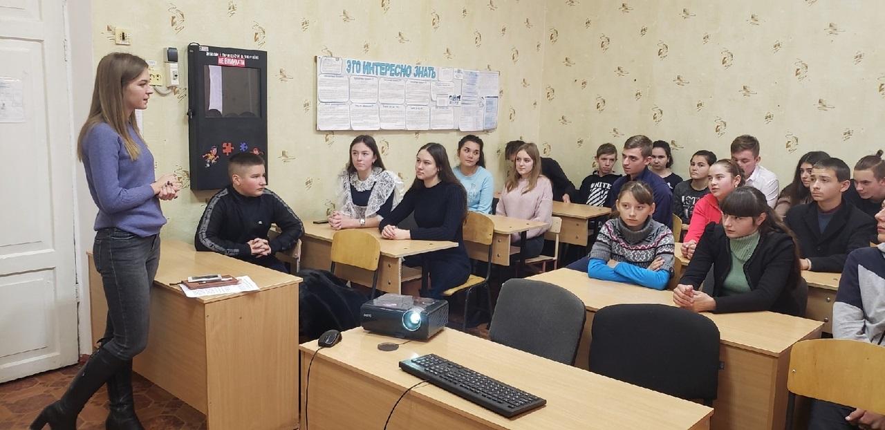 В посёлке Ящиково Перевалького района состоялось открытие первичного отделения проекта «Молодая гвардия» на базе учебного учреждения 1