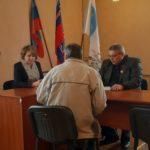 Прием председателя Краснолучского терротделения ОД «Мир Луганщине» прошел в Красном Луче