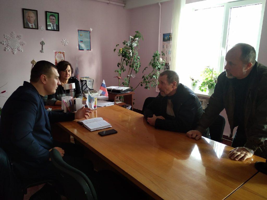 В посёлке Фащевка Перевальского района состоялся приём Владимира Полякова 1