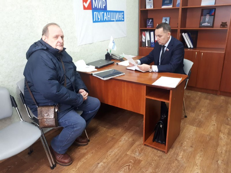 Депутат Народного Совета ЛНР Андрей Губарев встретился с жителями Стаханова