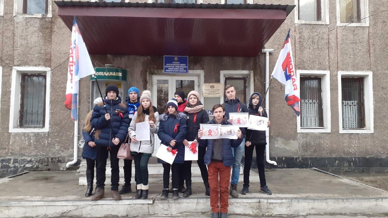 Активисты проекта «Молодая Гвардия» провели акцию, посвящённую Всемирному дню борьбы с раком в Антраците