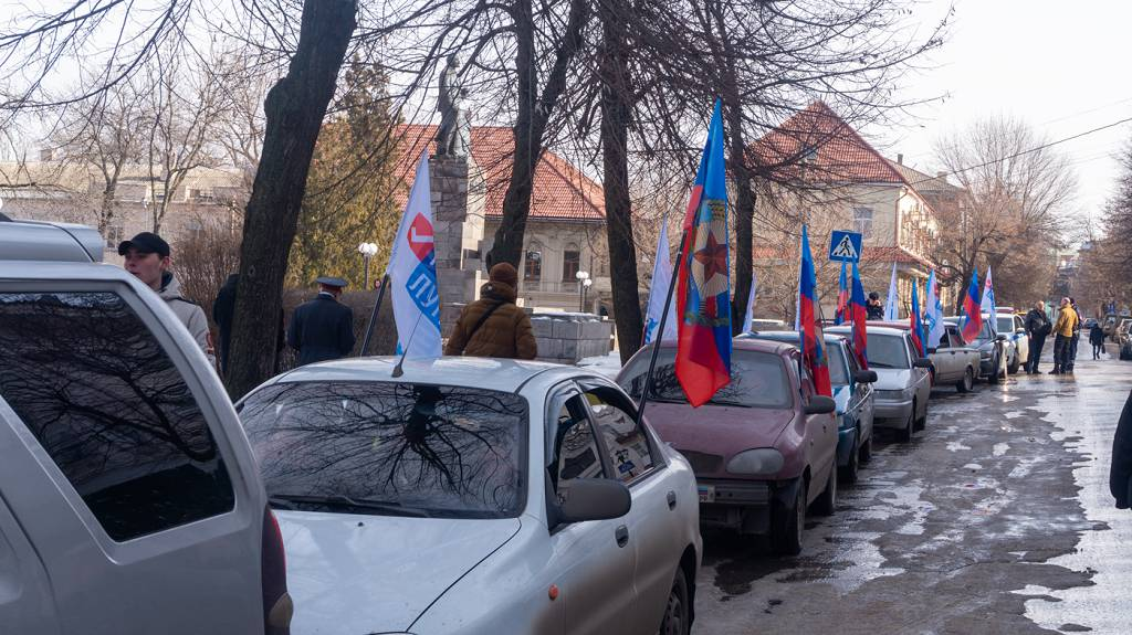 В Луганске прошёл автопробег ко Дню окончания Чернухино-Дебальцевской операции