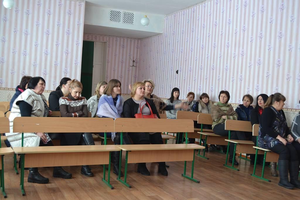 Встреча с трудовым коллективом школы состоялась в Ровеньках
