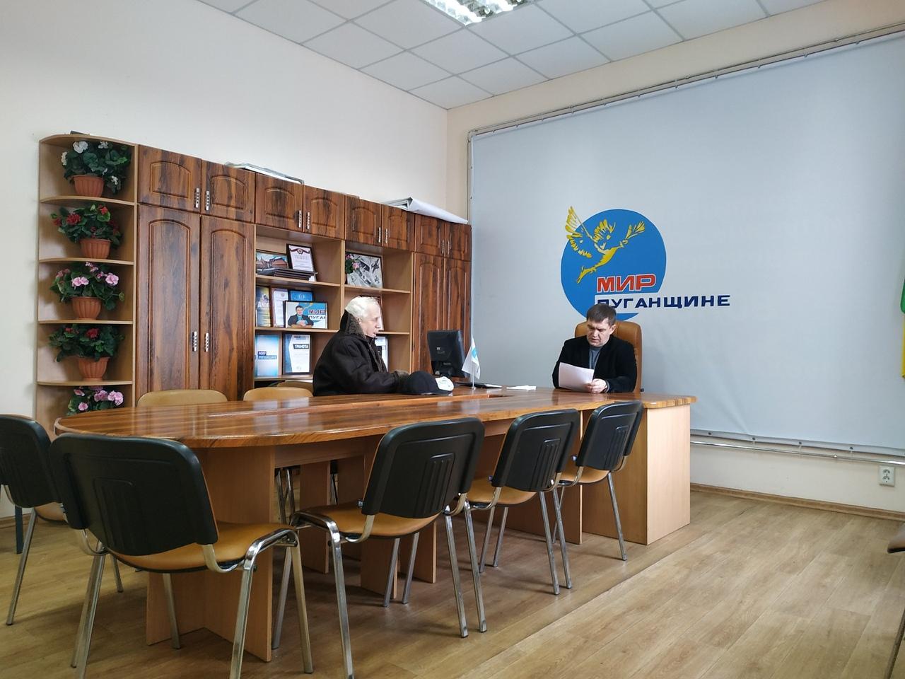 Депутат Народного совета ЛНР Андрей Сопельник провёл приём в Свердловском районе