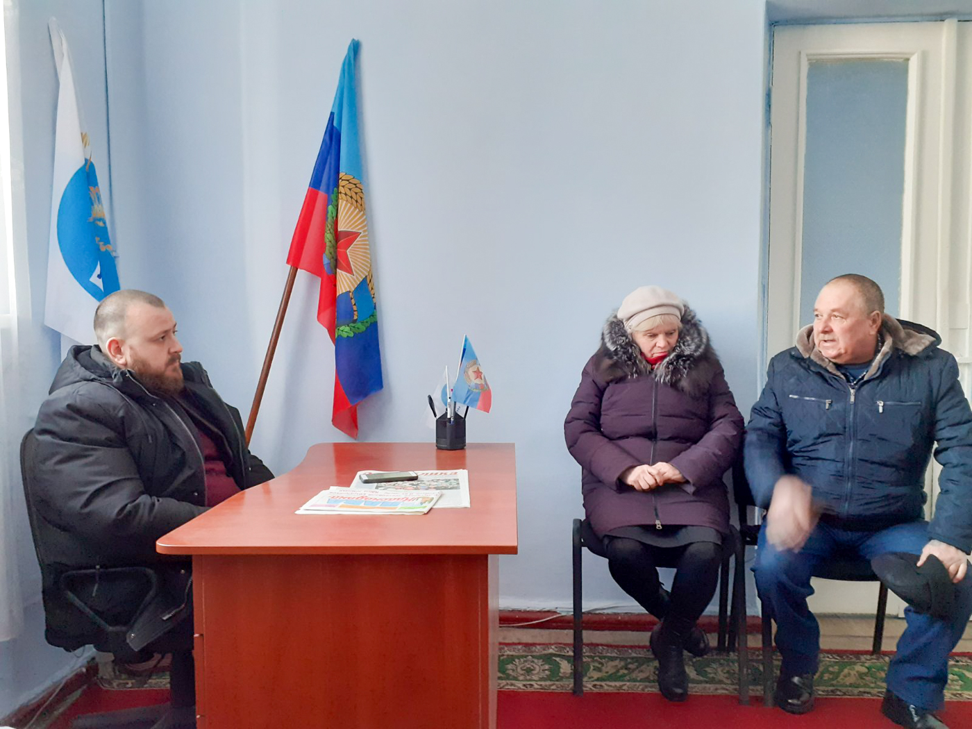 Депутат Народного Совета ЛНР Иван Санаев провёл приём в Краснодоне