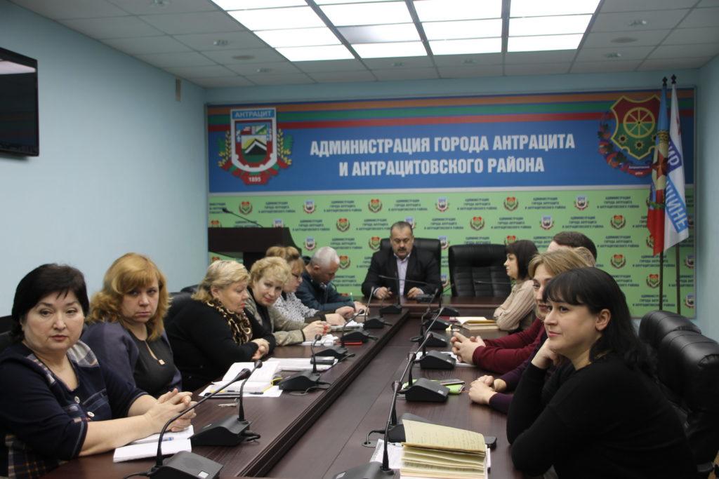 Глава Администрации города и района Сергей Саенко встретился с жителями Антрацита 1