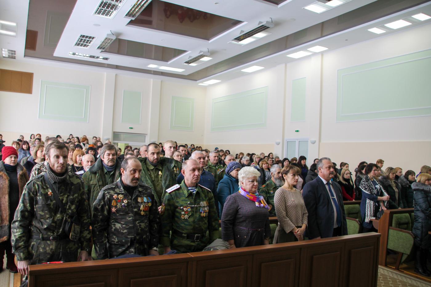 Торжественное собрание к 5-й годовщине Чернухино-Дебальцевской операции состоялось в Антраците 2