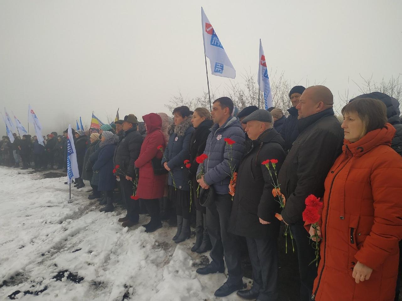 В Чернухино прошёл митинг, посвящённый 5-й годовщине окончания Чернухино-Дебальцевской операции