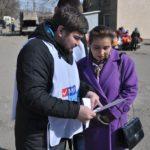 Активисты проекта «Молодая Гвардия» провели акцию в Брянке