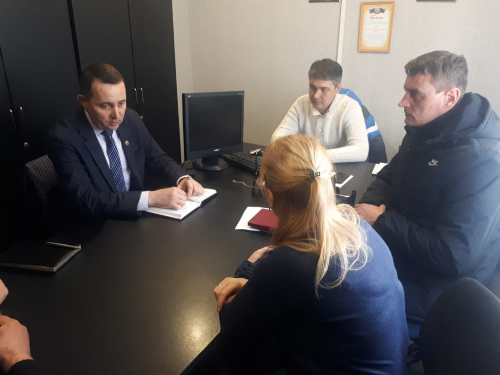 Андрей Губарев провел рабочие встречи в Стаханове 2