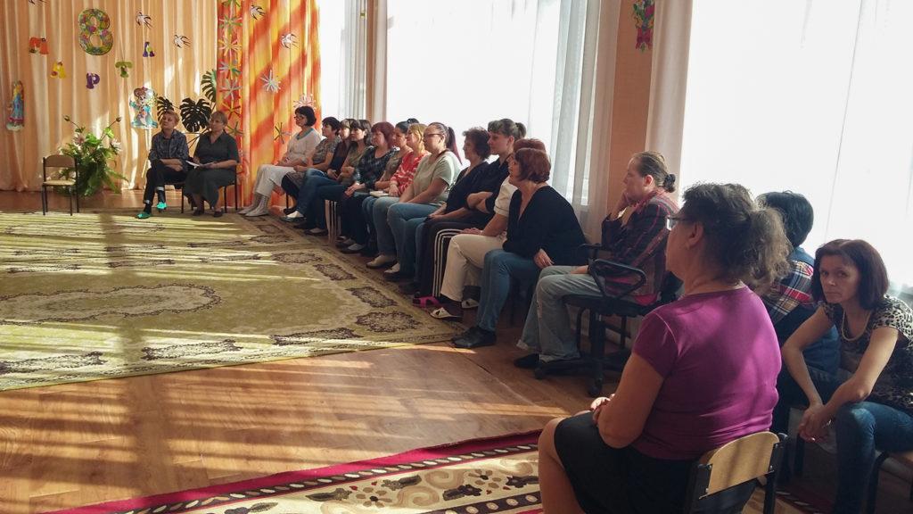 Ирина Андрух провела встречу с трудовым коллективом ясли-сада в Луганске 1