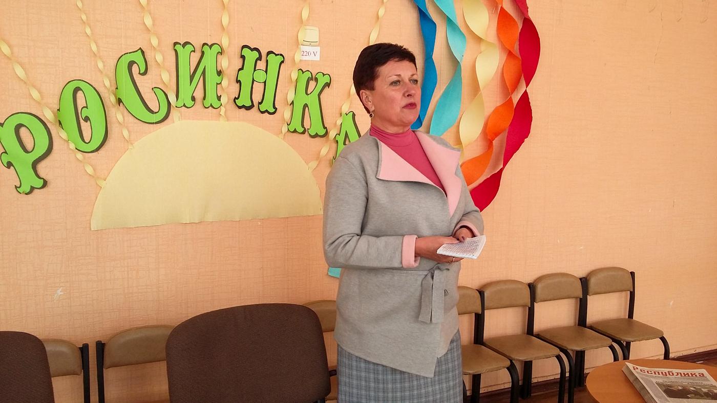 Ирина Андрух провела встречу с трудовым коллективом ясли-сада в Луганске 2