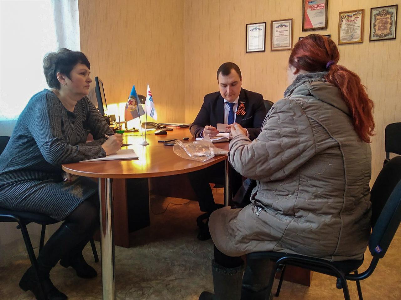 Депутат Народного Совета ЛНР провел прием граждан в Перевальске