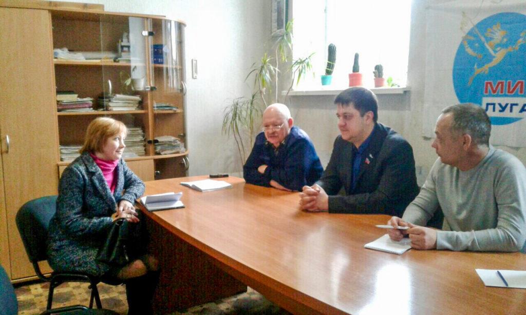Представители ОД «Мир Луганщине» встретились с жителями поселка Белореченский 2