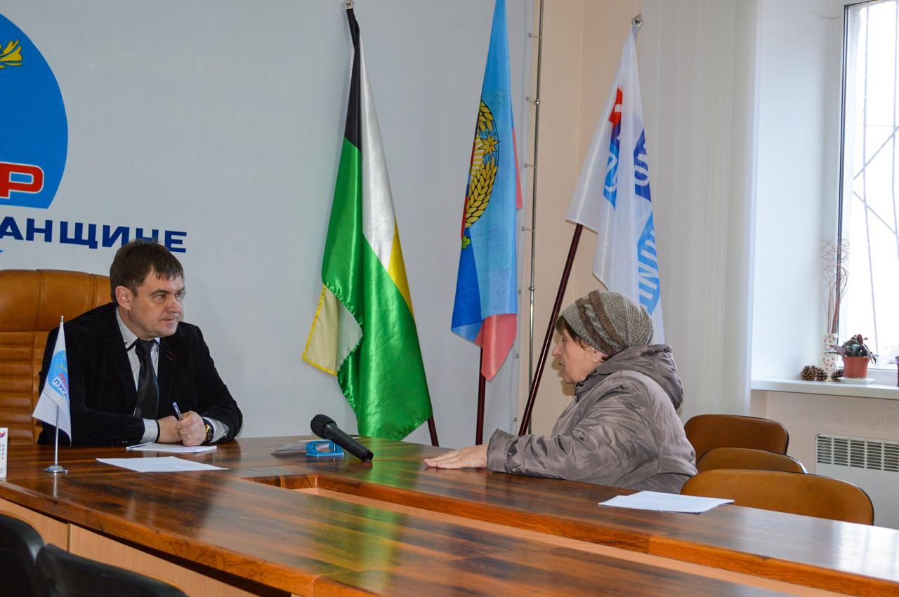 Андрей Сопельник провёл приём в Свердловске