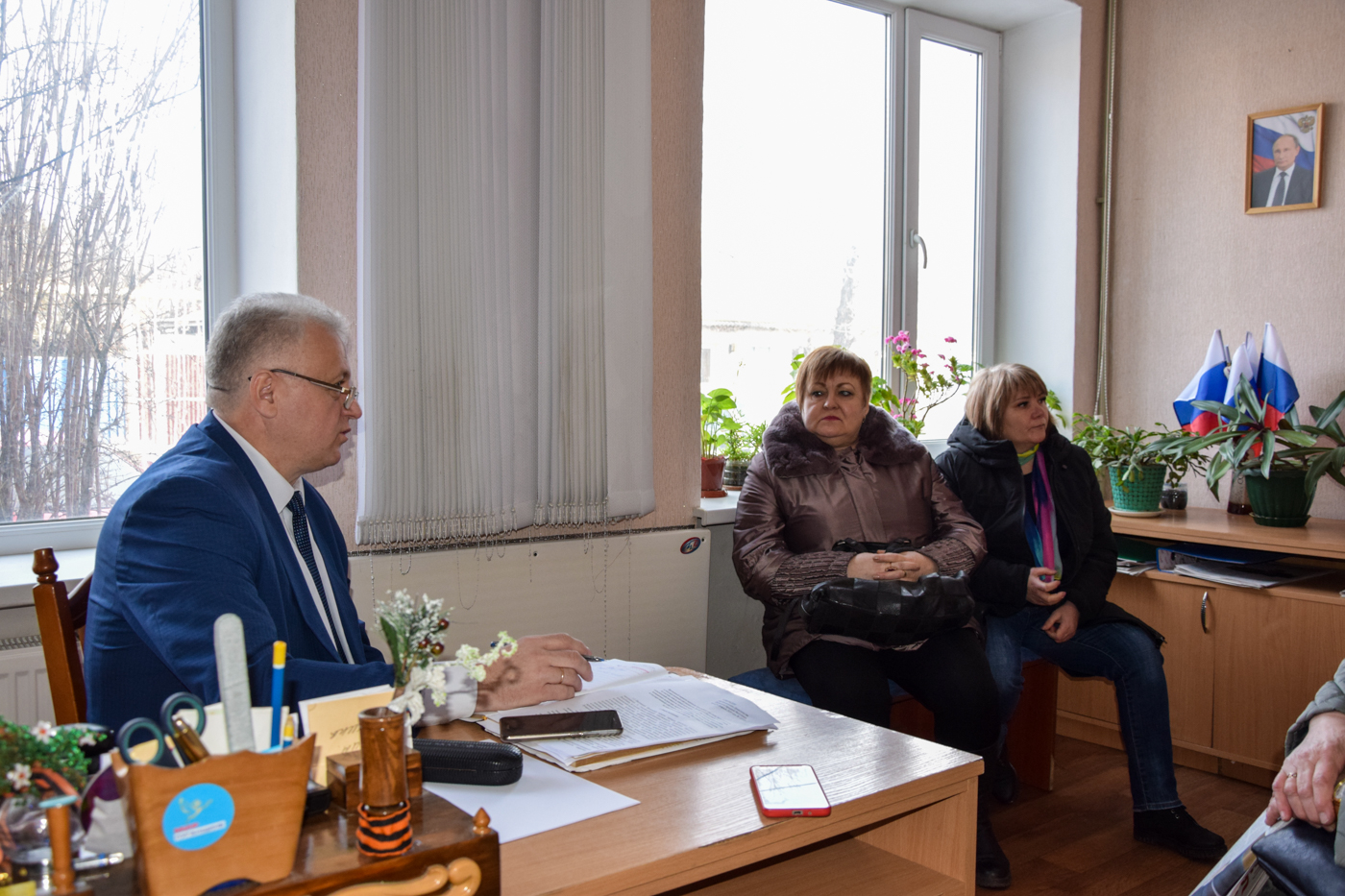 Сергей Рыбальченко встретился с жителями Красного Луча