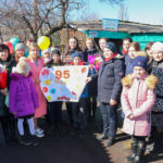 В Перевальском районе активисты ОД «Мир Луганщине» поздравили ветерана с 95-летним юбилеем