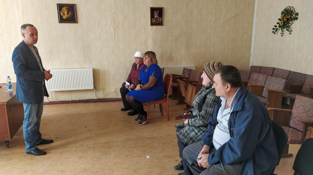 Павел Зайко встретился с активом Челюскинского первичного отделения ОД «Мир Луганщине»