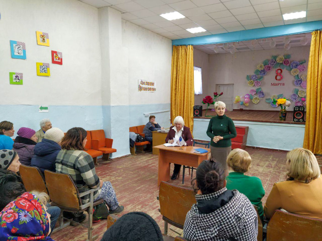 В Петровеньках Славяносербского района состоялась встреча с ветеранским активом села 2
