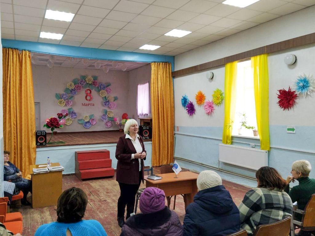 В Петровеньках Славяносербского района состоялась встреча с ветеранским активом села 3