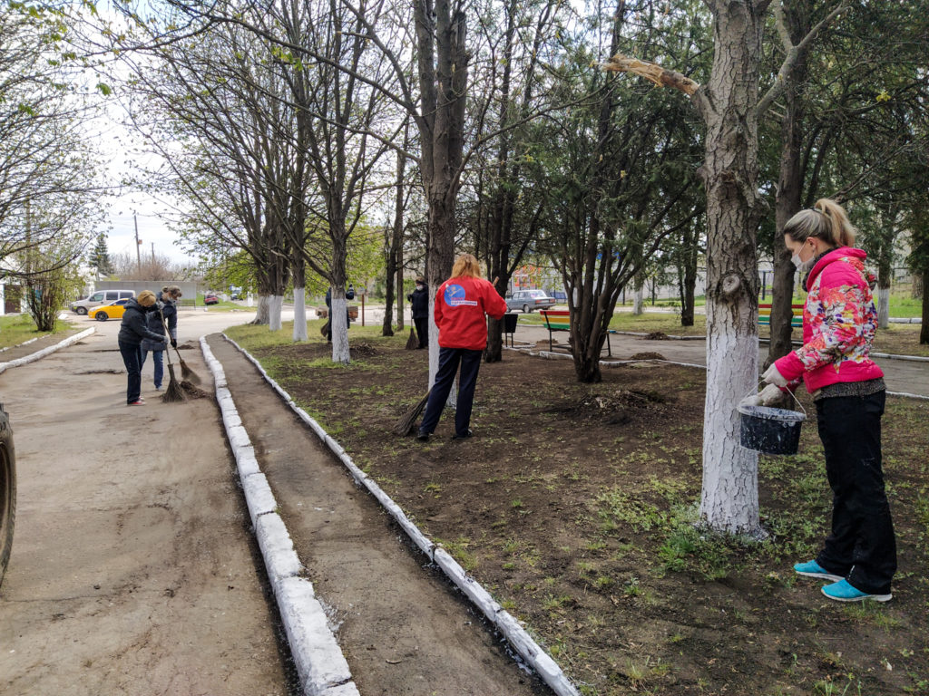 В посёлке Металлист активисты ОД «Мир Луганщине» провели субботник 1
