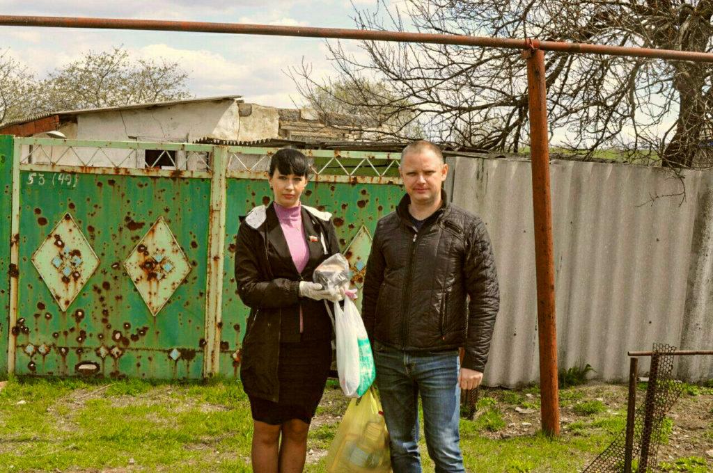 Александра Коваленко помогла в получении благотворительной помощи жительнице посёлка Новосветловка 2
