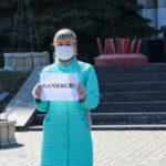 Молодёжь Алчевска призвала жителей соблюдать правила профилактики коронавируса