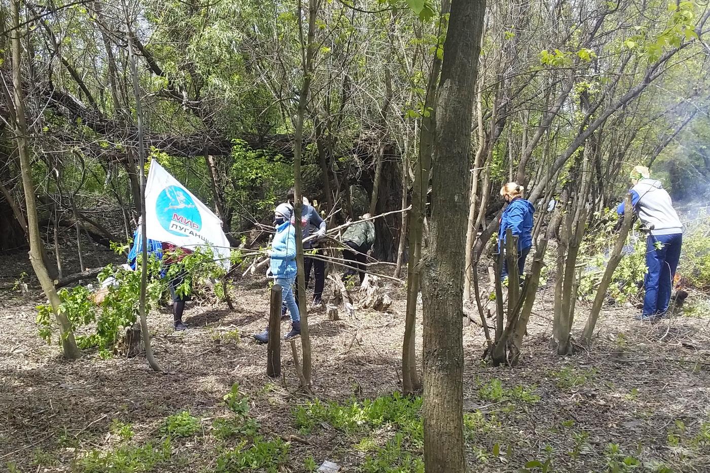 Активисты убрали от мусора и поросли прибрежную зону реки Миус