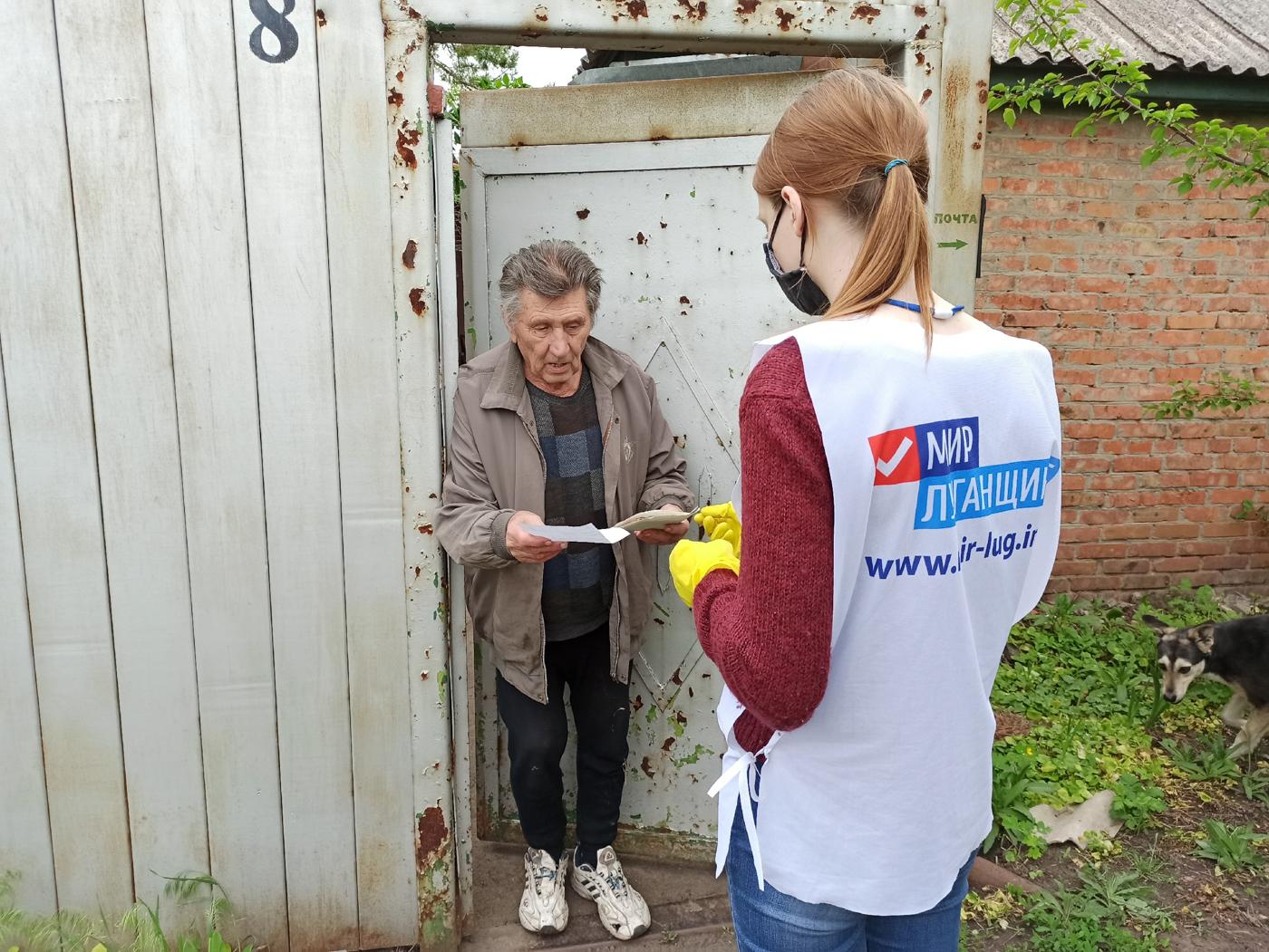 За неделю волонтёры акции «Рука помощи» помогли 136 жителям ЛНР 1