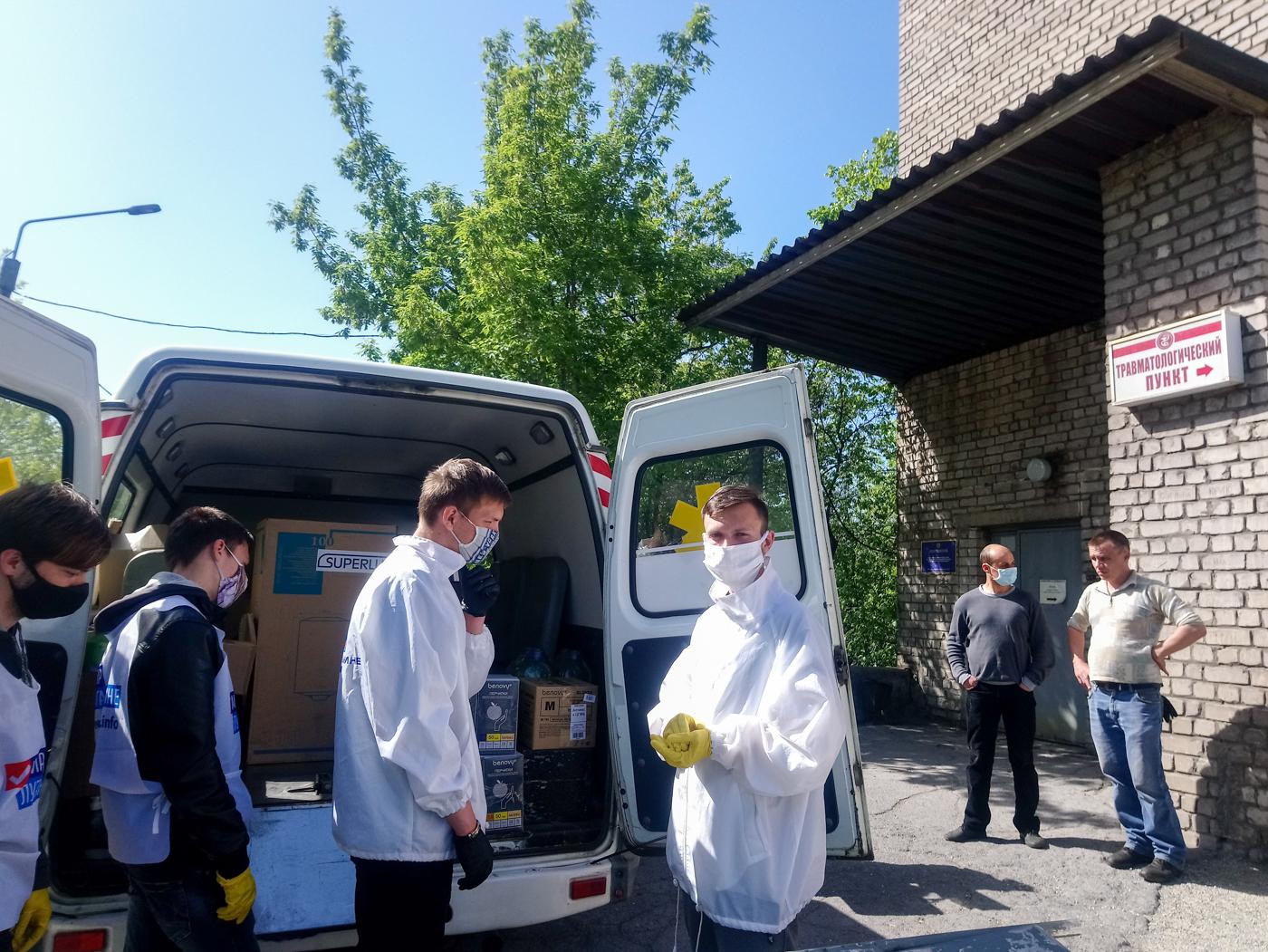 В больницы ЛНР передали средства личной гигиены от проекта «Волонтёр»